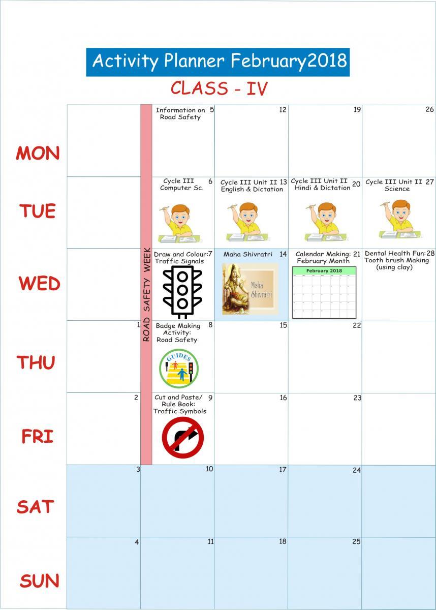 February 2018 For Class Lkg To V Sachdeva Public School